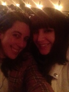 Me and my fab agent, Lana Popovic, post-dinner!